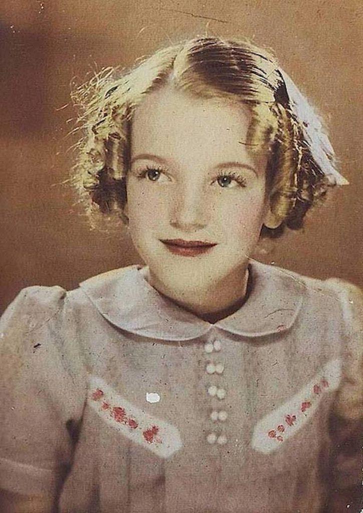Мэрилин Монро в 7 лет 1934 год
