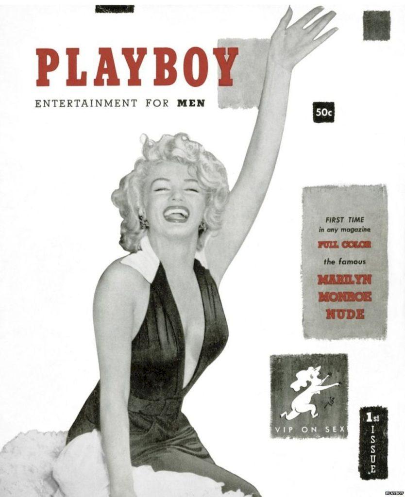 Обложка Playboy с Мэрилин Монро. 1953 год