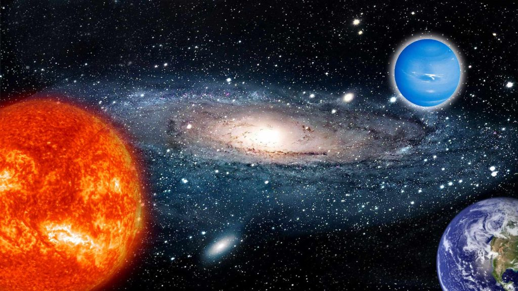 Уран и солнце