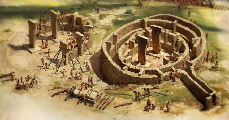 Древнейший храм Гебекли Тепе план