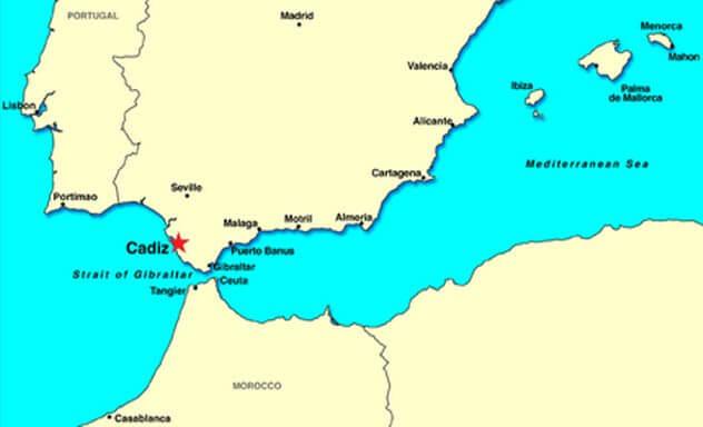 карта Атлантида