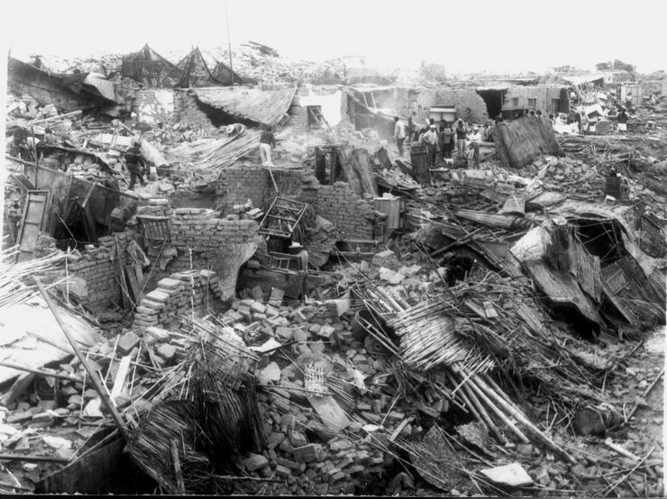 Трагичное землетрясение в Ганьсу и Шэньси.