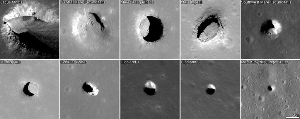 пещеры на луне