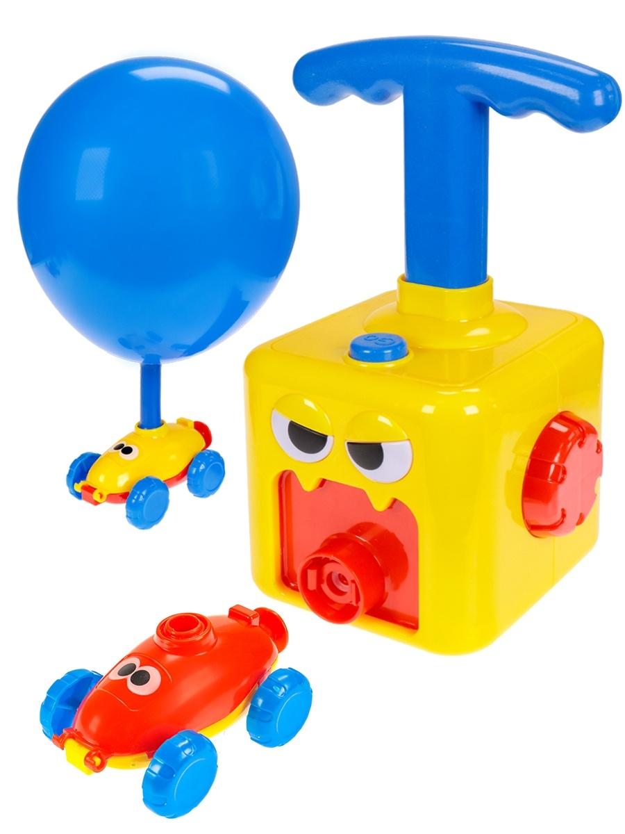 """Набор """"Веселый шарик"""" 1(22,5см*5,5см-8,5см, насос.станция, 2 турбины, 2 машинки)"""