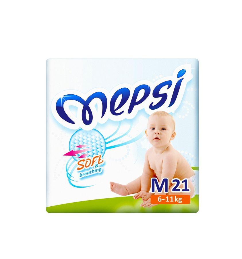 Детские подгузники Mepsi размер: M (6-11кг) 64шт. Премиум   125х330х375 мм