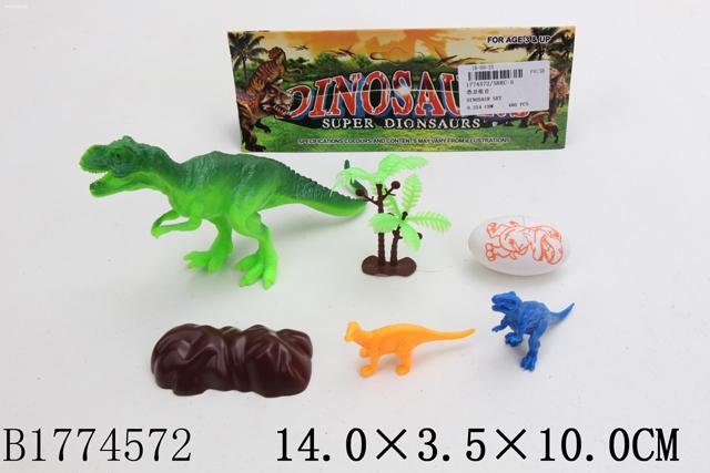 """Набор животных """"Динозавры"""" ,в/п 14*3,5*10"""