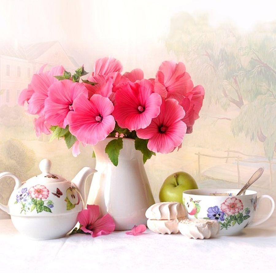 Красивые открытки с добрым днем и цветы