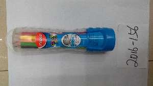 Набор цветных карандашей 8мм, 12 шт в тубе(Китай)