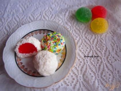 Готово! Творожные конфеты готовы! Хранить в холодильнике не больше суток.