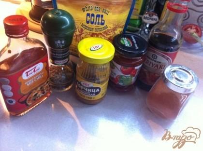 Подготовим приправы и специи для маринада