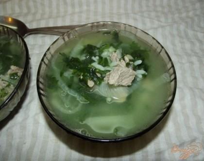Готово! Когда суп готов накрываем его крышкой и даем настоятся около получаса. Подавать такой суп нужно теплым со сметаной и розмариновым (или другим травяным) хлебом. Приятного вам аппетита!