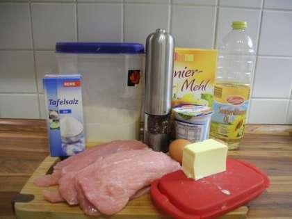 Для приготовления венского шницеля нам понадобится: