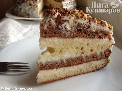 """А это кусочек торта """"Сметанник"""".  Очень вкусно!"""