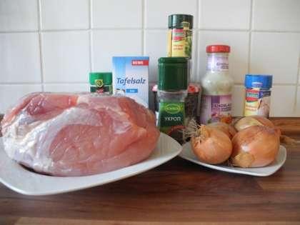 Для приготовления шашлыка в чесночном маринаде нам понадобится:
