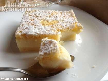 "Нарезаем ""умный"" торт на кусочки и подаем. Приятного аппетита!"