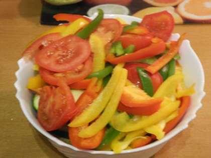 Пожарить в таком же порядке все оставшиеся овощи