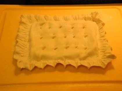 Готовый пирог перенести на противень