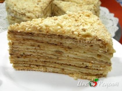 Торт «Наполеон» на сковороде готов!