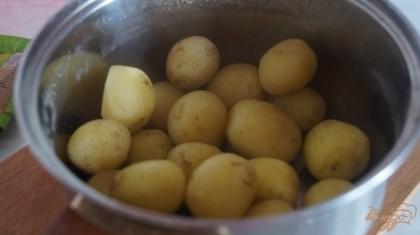 Картофель отварить до готовности и посолить.