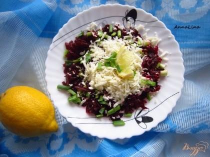 Готово! Полейте салат оливковым маслом. Приятного аппетита!