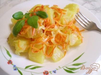 Готово! Картофельный гарнир готов! Подавайте горячим.