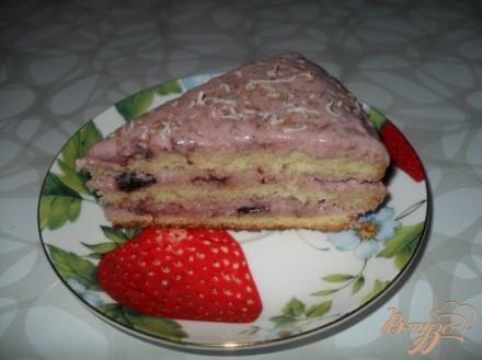 Бисквитный торт со сметанным кремом с вареньем
