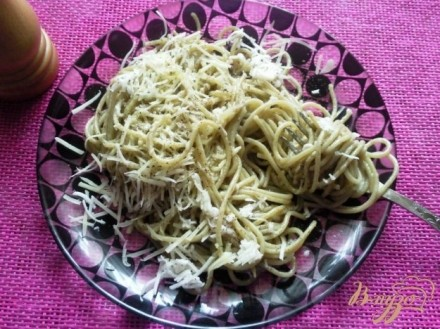 Спагетти с чесночным маслом