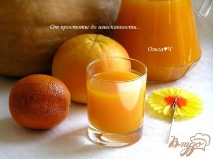 Напиток из тыквы и апельсина
