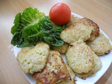 Оладушки из кабачков с картошкой