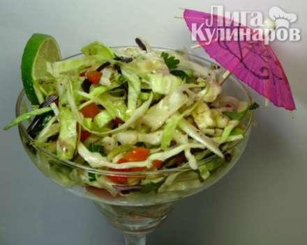 Острый овощной салат для похудения