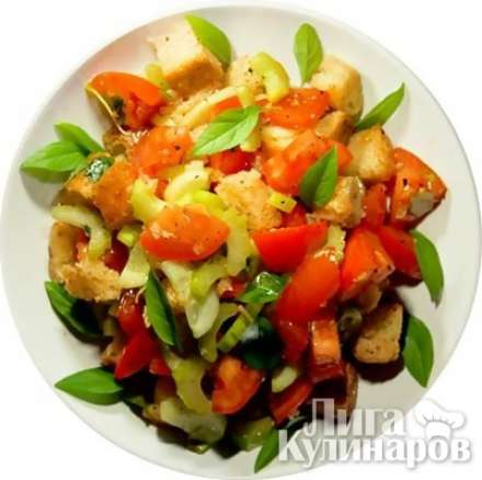 Салат из свинины с апельсинами, горчицей и смородиновым желе