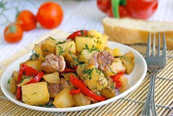 Ассорти из овощей с курицей