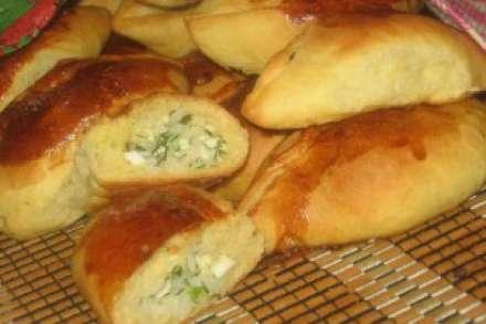 Пирожки с укропом и яйцом
