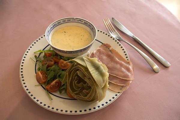 Отварные артишоки с Итальянским сливочным соусом