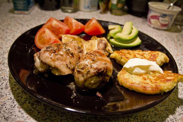 Курица с лимоном и тимьяном
