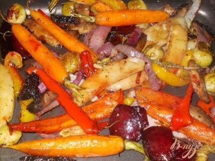 Гарнир из зимних овощей