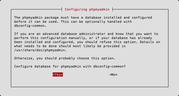 Конфигурация phpMyAdmin - dbconfig-common
