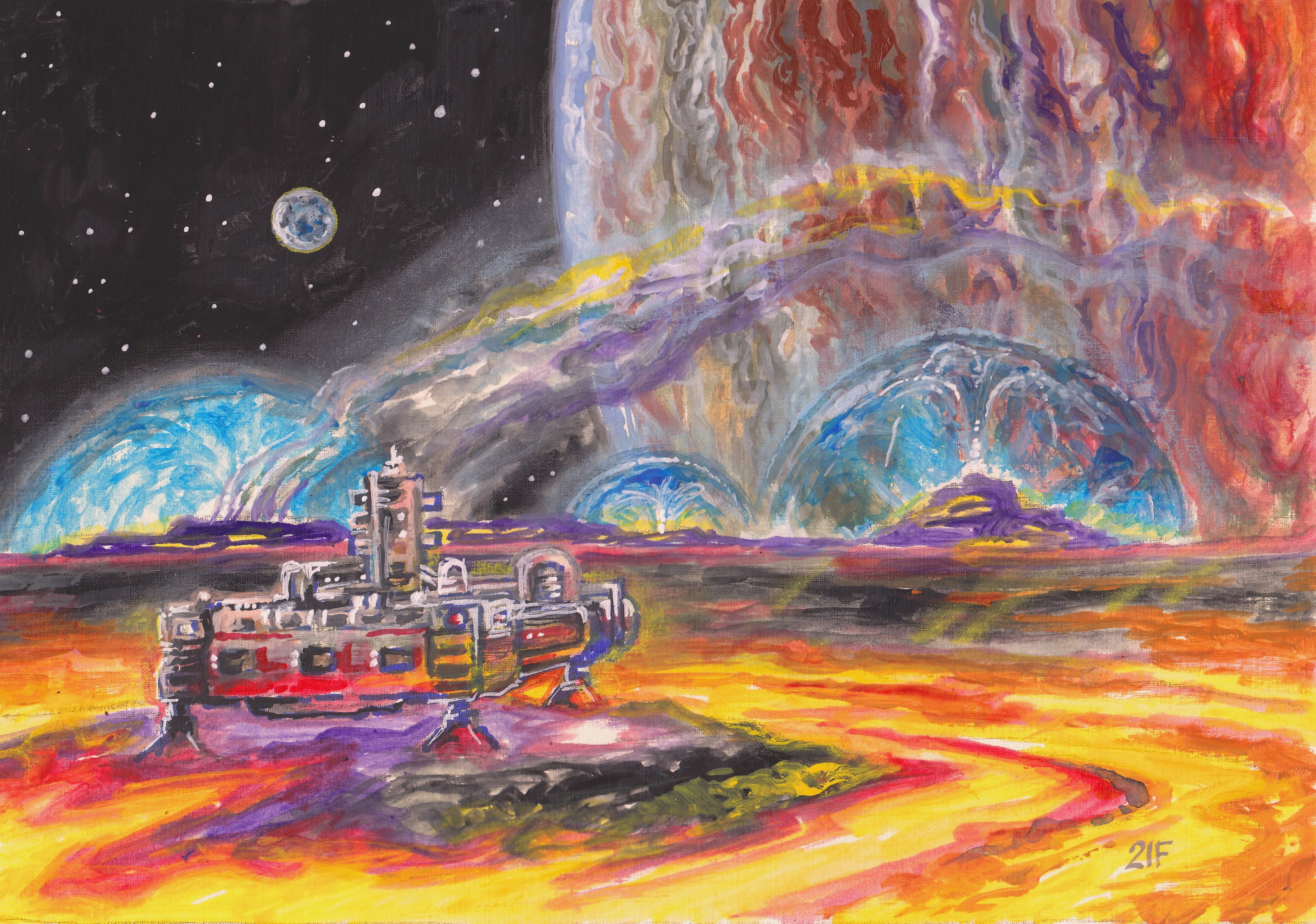 Вулканы Ио-спутника Юпитера. - Victor Filippsky