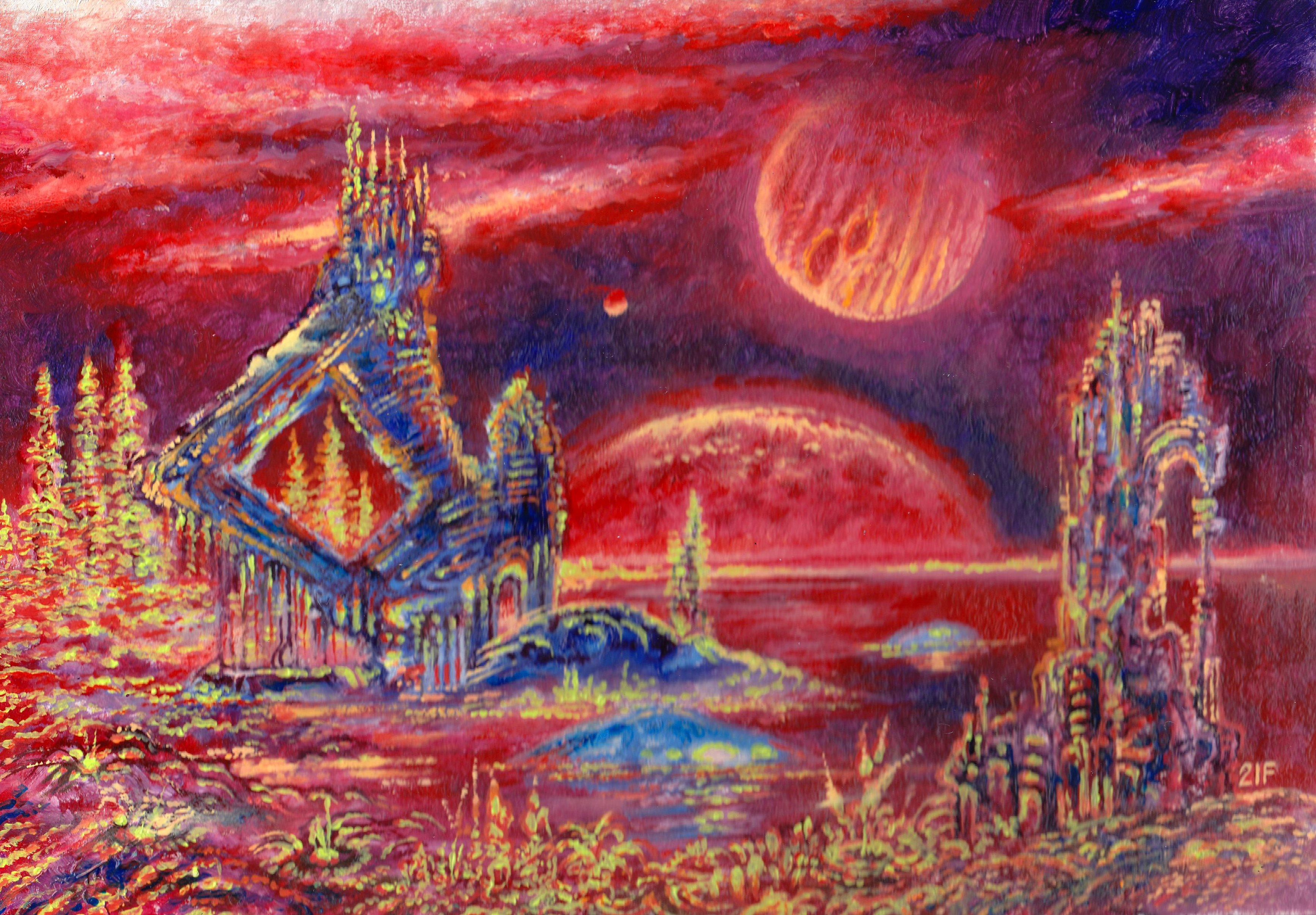 Вид на Юпитер с Ганимеда через миллиарды лет. - Victor Filippsky
