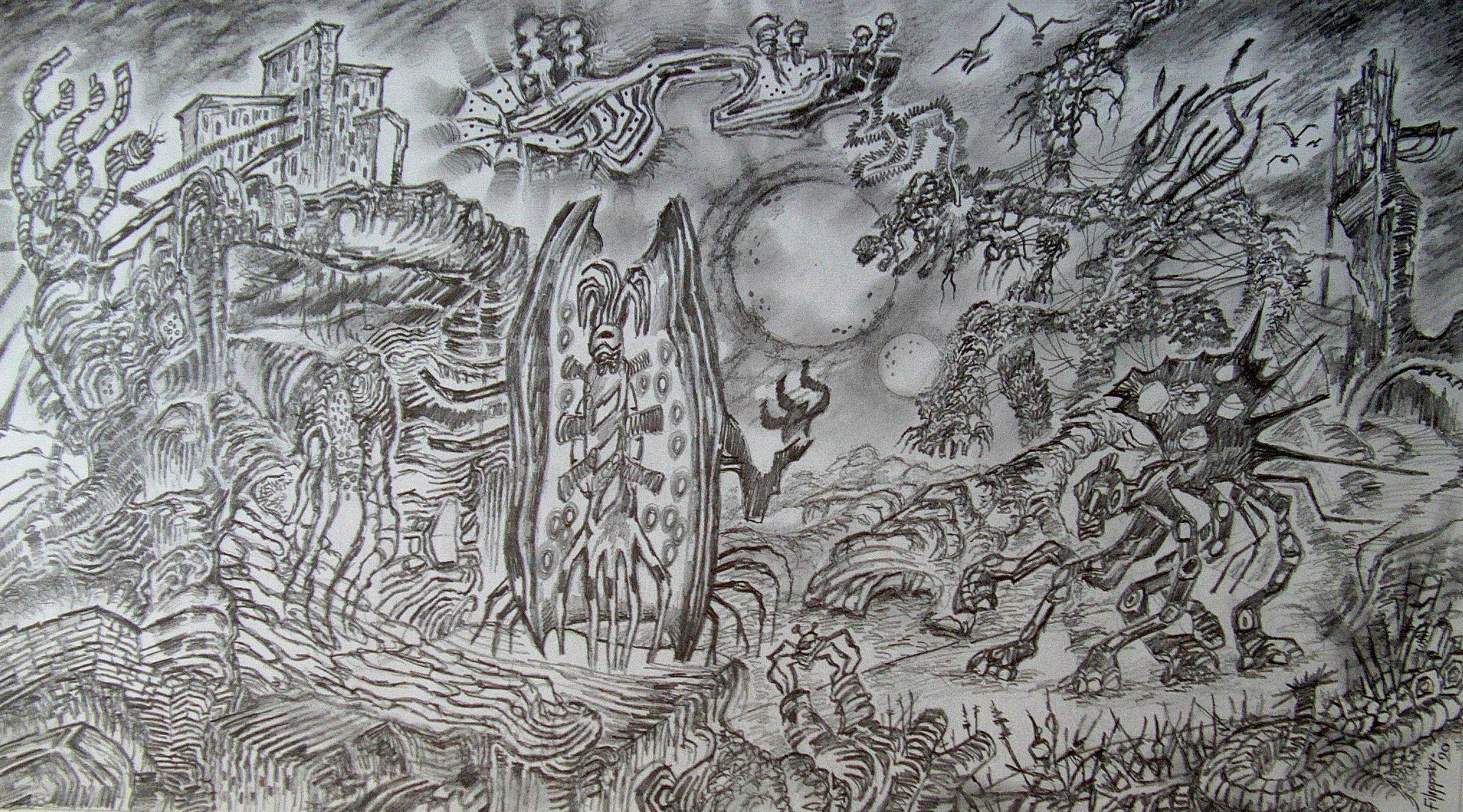 Мир планеты двойного красного карлика. - Victor Filippsky