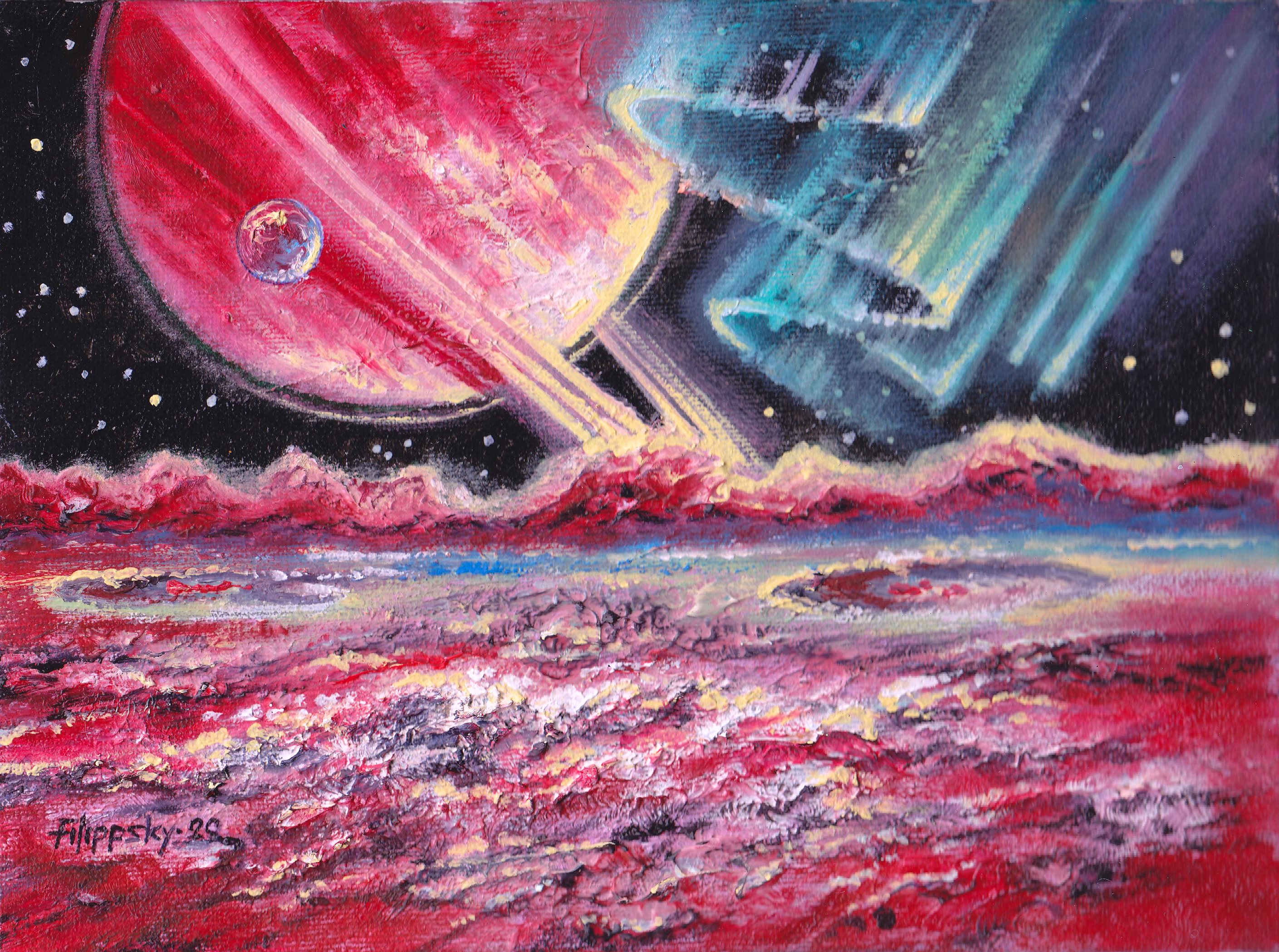 Сияние на луне экзопланеты. - Victor Filippsky