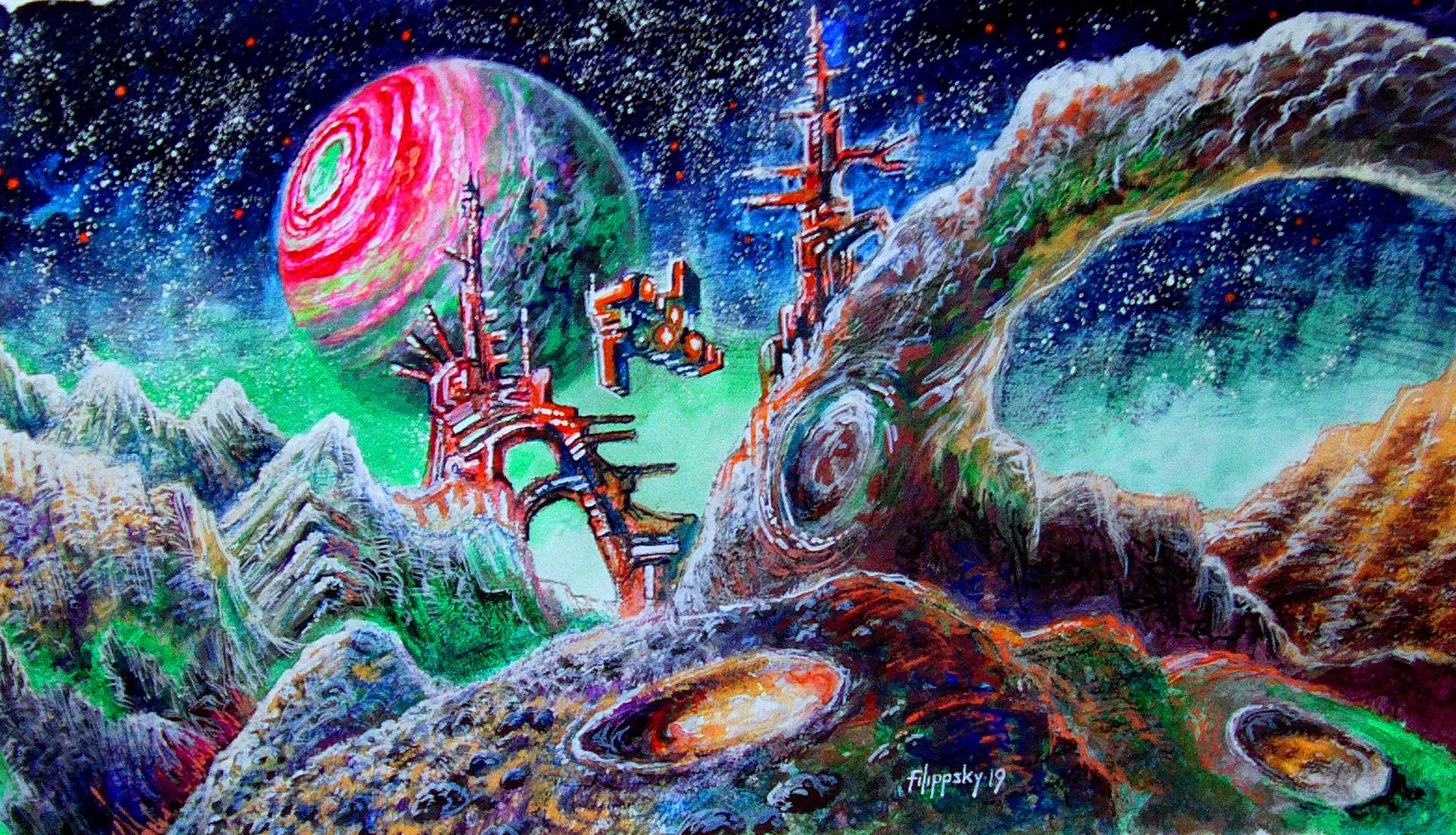 Ледяная луна экзопланеты. - Victor Filippsky