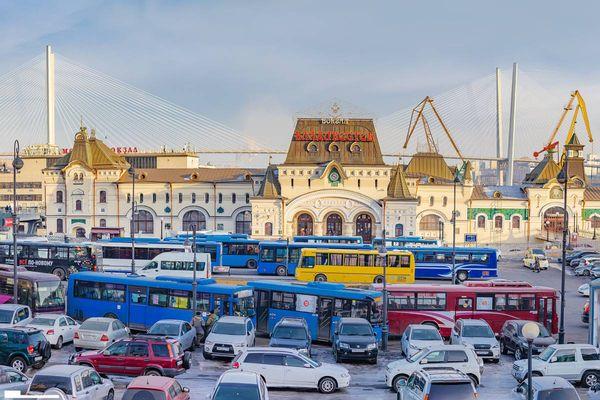 Остановки Владивостока: герои-шиномонтажники и конь с богатой гривой