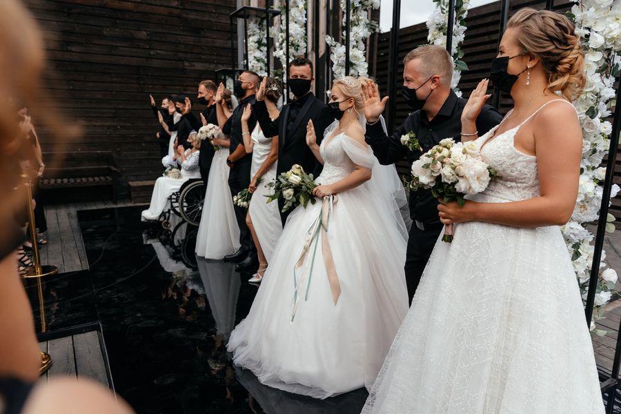 Большая шестёрка: шесть свадеб провели самое главное торжество жизни вместе