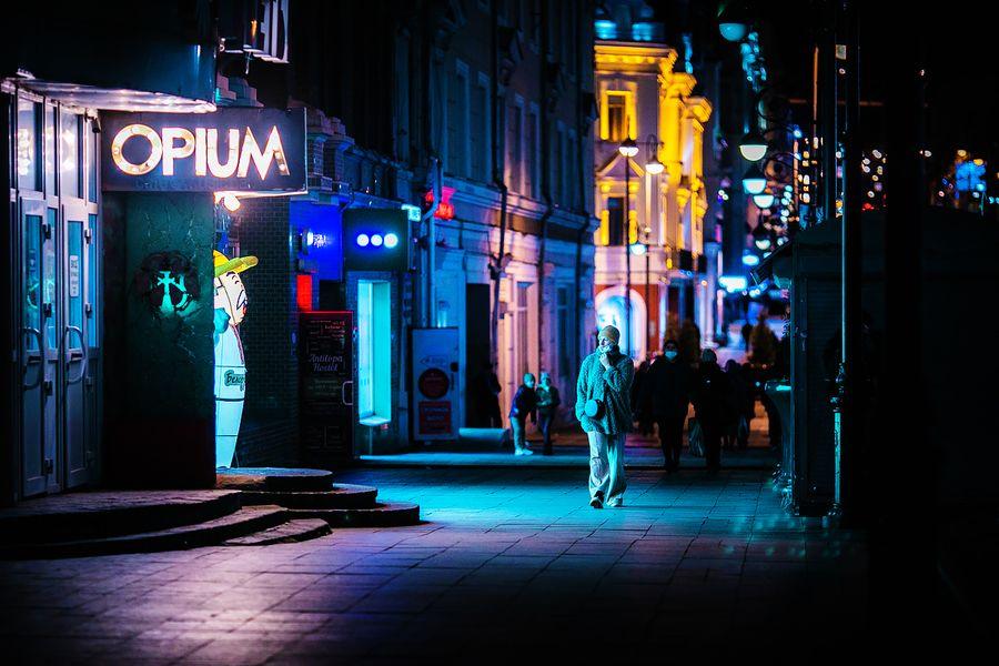 Владивосток в киберпанковом неоне