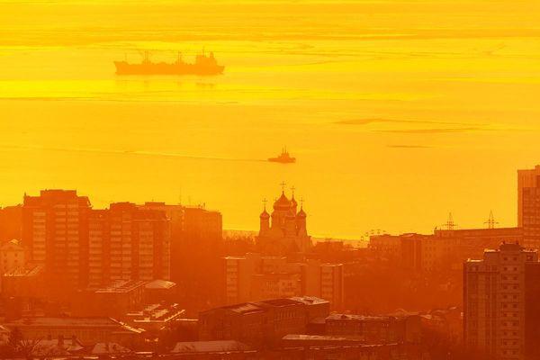 Золотой Владивосток: закат самого короткого дня