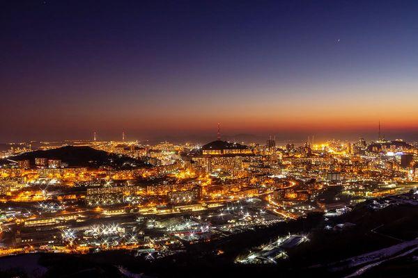 Огни вечернего Владивостока