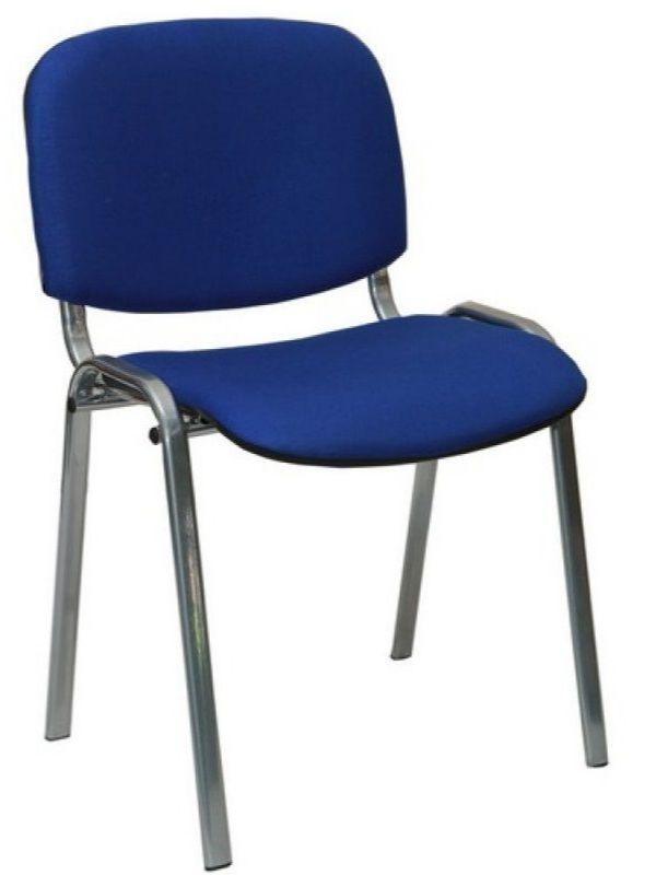 Цвет СинийКлассический стул, серебристые ножки, синий верх