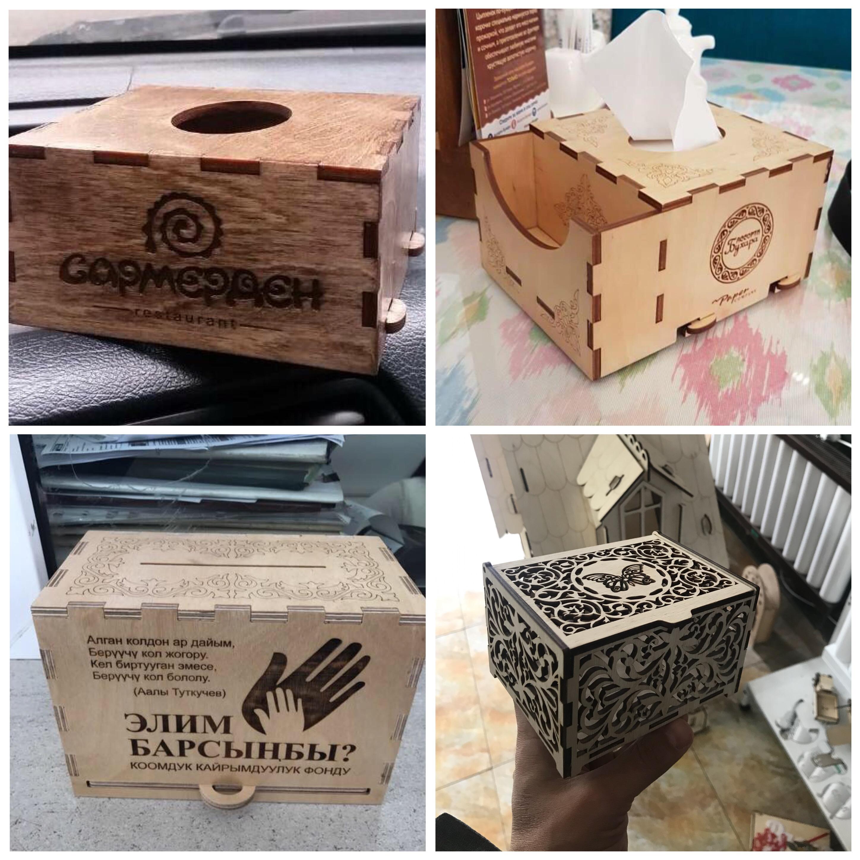 Коробочки и салфетницы для дома, кафе и магазинов