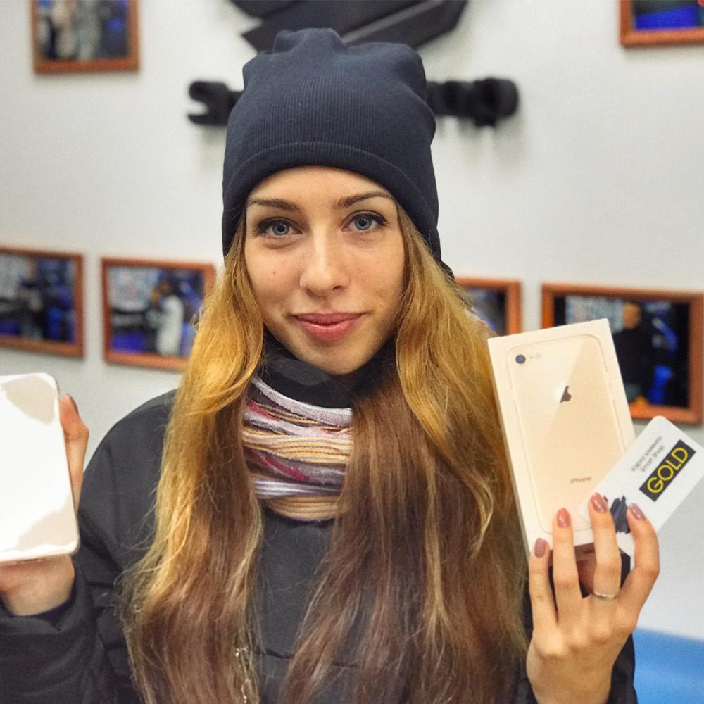Прекрасная Анна приобрела iPhone 8 цвета Gold, который ей так подходит!Вот ссылка вк на неё:vk.com/lukashova_anna